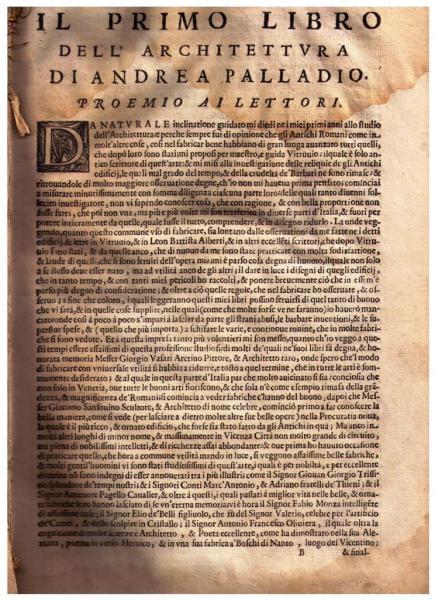 L'architecture d'Andrea Palladio, 1642