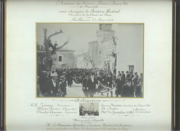 Les obsèques de Frédéric Mistral en 1914