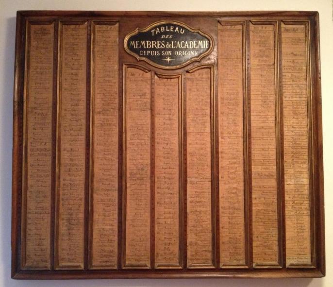 Tableau de tous les académiciens depuis 1726