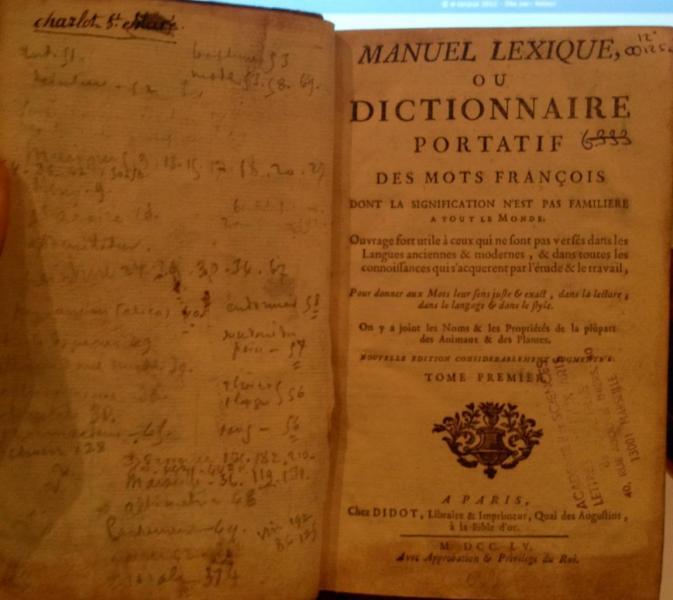 Dictionnaire portatif des mots françois
