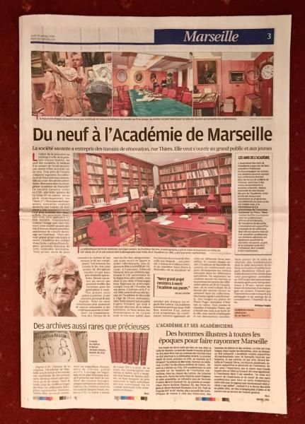 Du neuf à l'Académie de Marseille