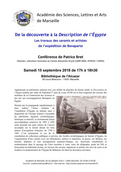 20180915 conference de la decouverte a la description de l egypte