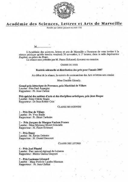 Prix 2007