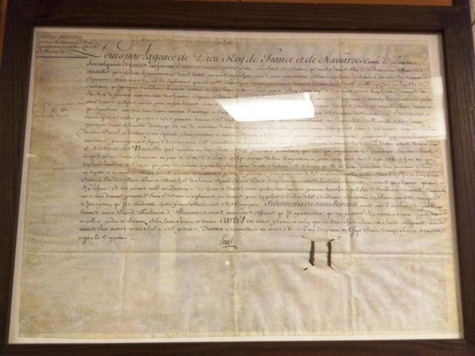 Lettres Patentes du roi Louis XV en 1726