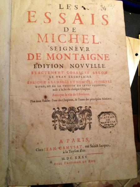 Essais de Montaigne, 1635